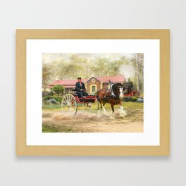Full Steam Framed Art Print