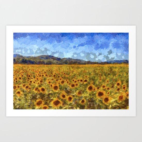Vincent Van Gogh Sunflowers by davidpyatt