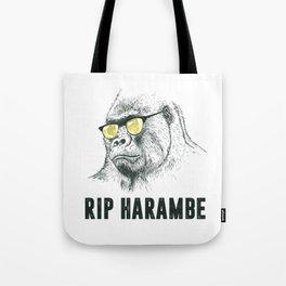 RIP Harambre Tote Bag