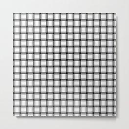 Small White Weave Metal Print