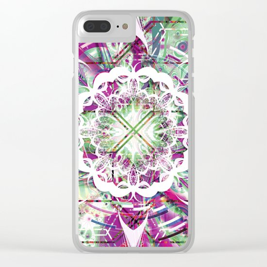 Introspective Reflection Clear iPhone Case