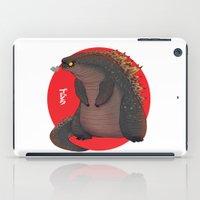 godzilla iPad Cases featuring GODZILLA by olivier silven