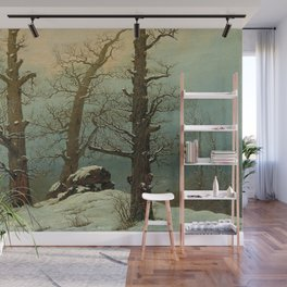 Caspar David Friedrich - Cairn in Snow Wall Mural