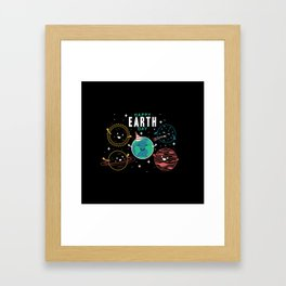 Happy Earth Day Framed Art Print