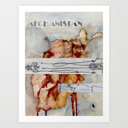 A is for Afghanistan Art Print