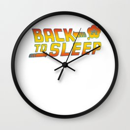 Back to the sleep Wall Clock