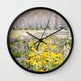 Flowers of Versailles Wall Clock