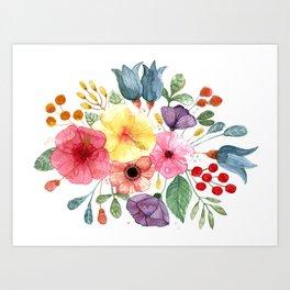 Acua Flower Art Print