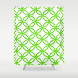 Interlocking Lime Green Shower Curtain
