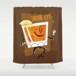 Mr. Whiskey Says Drink Up Shower Curtain