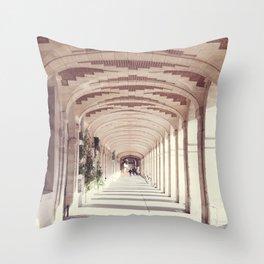 Paris, Place des Vosges Arches Throw Pillow