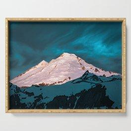Mt Baker Blue Serving Tray