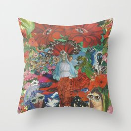 Psychedelic Brazil Throw Pillow