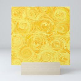 Honey Yellow Roses Abstract Mini Art Print