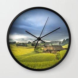 Vietnam Rice Cultivation Wall Clock