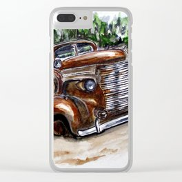 1938 Crime Fighter Clear iPhone Case