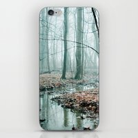 woodland iPhone & iPod Skins featuring Gather up Your Dreams by Olivia Joy StClaire