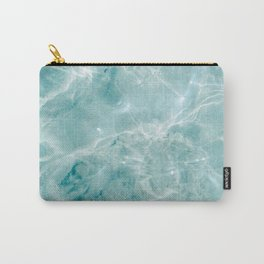 Clear blue water | Colorful ocean photography print | Turquoise sea Carry-All Pouch