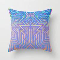 tron Throw Pillows featuring Tron-ish by Roberlan Borges