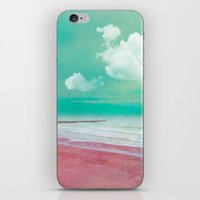 silent iPhone & iPod Skins featuring SILENT BEACH by VIAINA