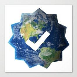Verified Earth Canvas Print