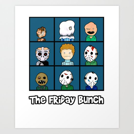 The Friday Bunch Art Print