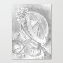 The Interrupted Alien Canvas Print