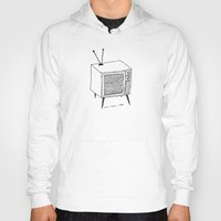 tv Hoodies featuring TV by Addison Karl