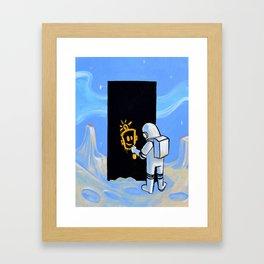 Happy In Space Framed Art Print