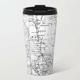 Vintage Map of Wisconsin (1859) BW Travel Mug