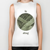 strong Biker Tanks featuring Strong by Pepe Rodriguez