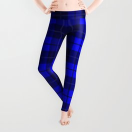 Cobalt Plaid Leggings