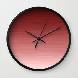 Fading red Wall Clock