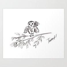 A Bird :: The Original Tweet Art Print