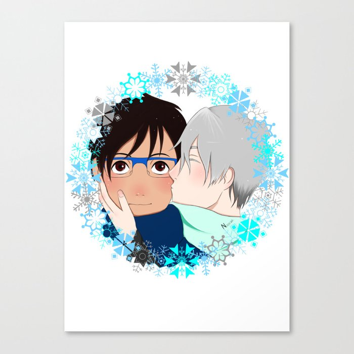 Winter Kisses Canvas Print