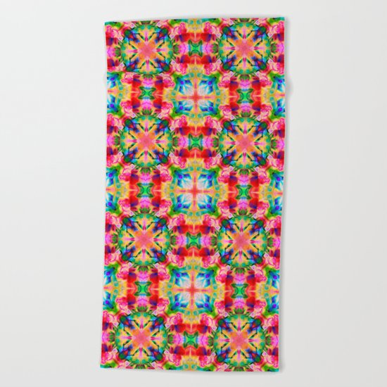Colors of the kaleidoscope. Colorful ornament. Beach Towel