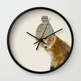 indy fox Wall Clock