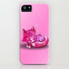 Mommy fox with Baby iPhone Case