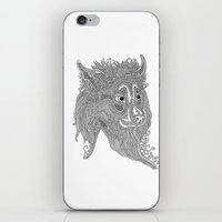 beast iPhone & iPod Skins featuring Beast by Olya Goloveshkina