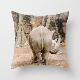 Rhino butt Throw Pillow