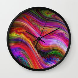 Smeared Rainbow Wall Clock