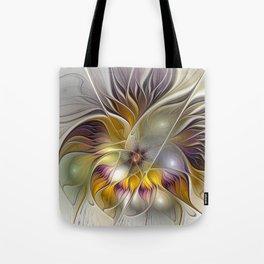 Abstract Fantasy Flower Fractal Art Tote Bag