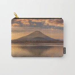 Mount Fuji and Lake Shoji in Japan at sunrise Carry-All Pouch