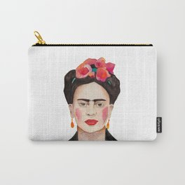 Watercolor Frida Kahlo Carry-All Pouch