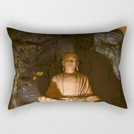 Buddha in Meditation in Rishikesh Rectangular Pillow