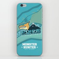 monster hunter iPhone & iPod Skins featuring Monster Hunter All Stars - Pokke Permafrosts  by Bleached ink