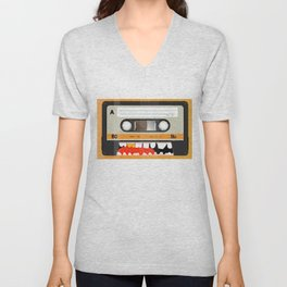 The cassette tape golden tooth Unisex V-Neck