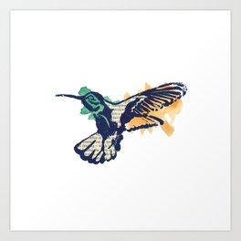 Hummingbird - Collage Art Print