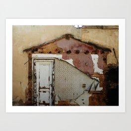 Unidimensional house Art Print