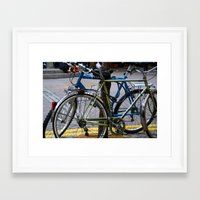 bicycles Framed Art Prints featuring Bicycles by love indigo